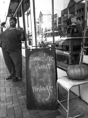 Save the planet, buy vintage