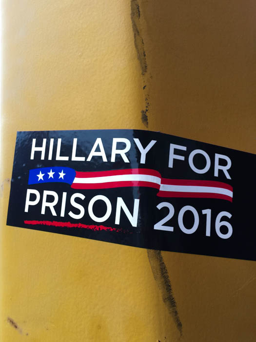 Clinton for prison, 2016